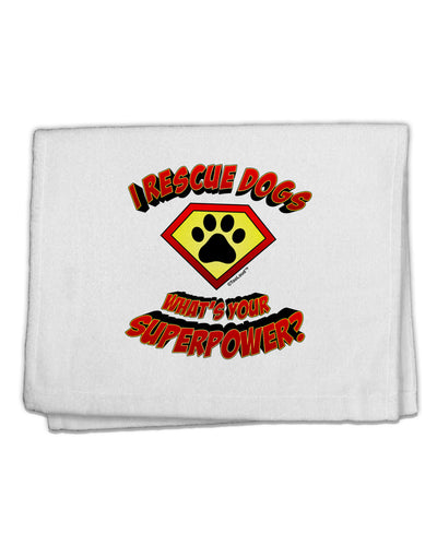 "Rescue Dogs - Superpower 11""x18"" Dish Fingertip Towel"