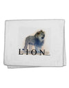 "Lion Watercolor B Text 11""x18"" Dish Fingertip Towel"