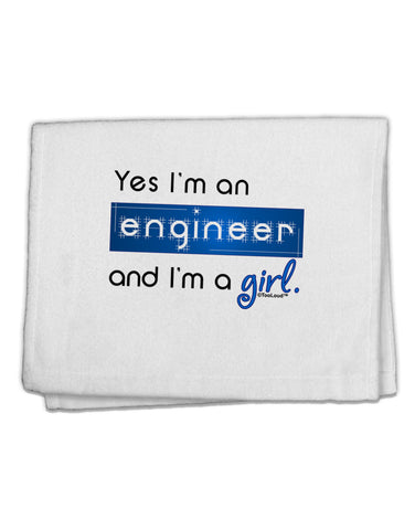 "TooLoud Yes I am a Engineer Girl 11""x18"" Dish Fingertip Towel"