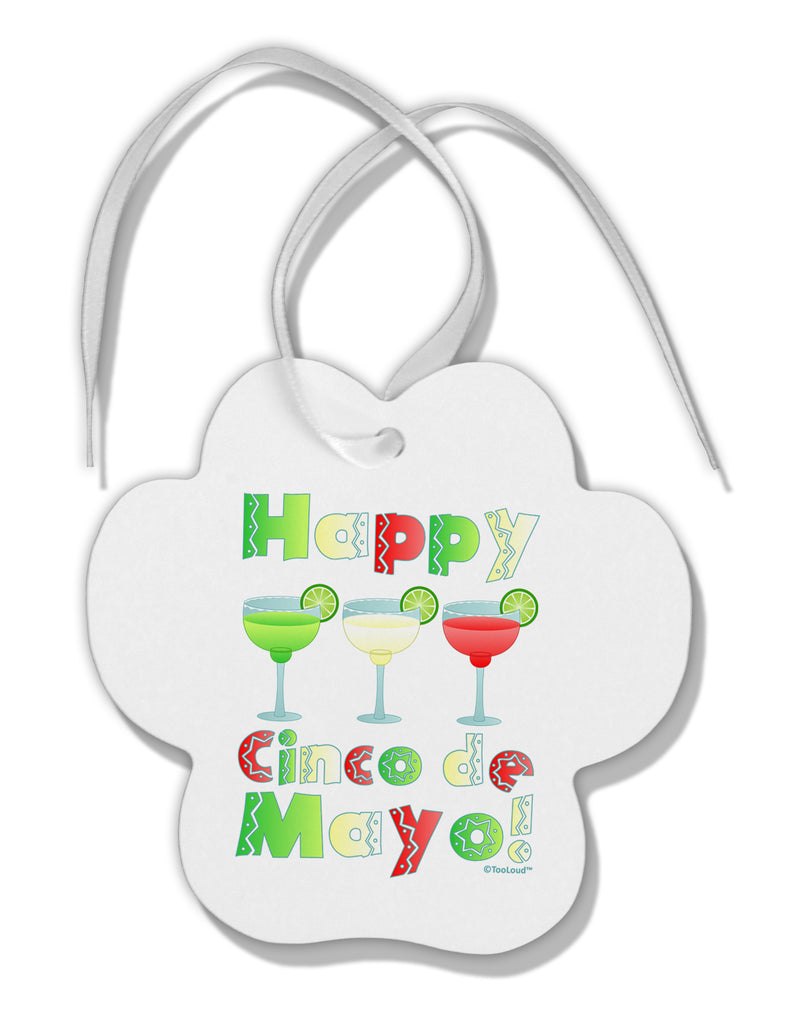 margaritas mexican flag colors happy cinco de mayo paw print