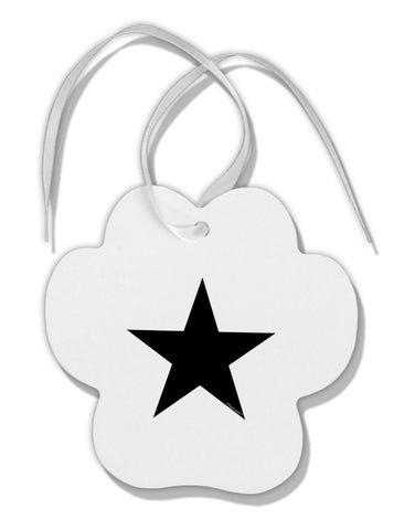 TooLoud Black Star Paw Print Shaped Ornament