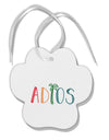 TooLoud Adios Paw Print Shaped Ornament