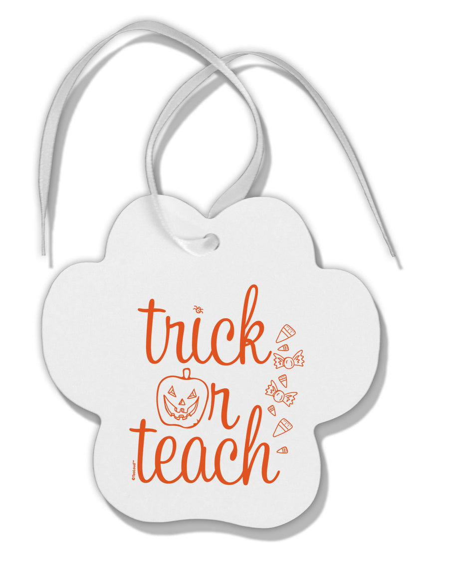 TooLoud Trick or Teach Paw Print Shaped Ornament