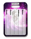 Astronaut Cat AOP Luggage Tag Dual Sided All Over Print