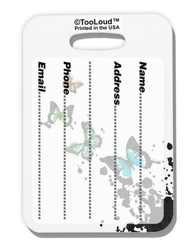Splatter Butterflies AOP Luggage Tag Dual Sided All Over Print