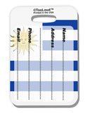 Uruguay Flag AOP Luggage Tag Dual Sided All Over Print Tooloud