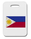 Distressed Philippines Flag Thick Plastic Luggage Tag Tooloud