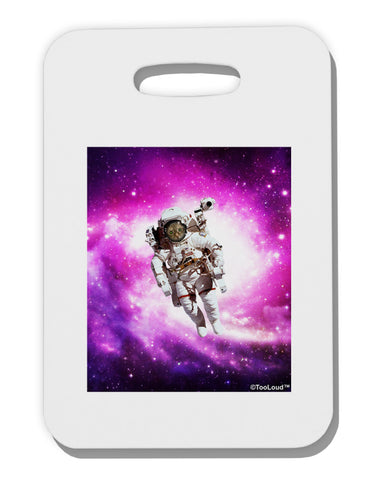 Astronaut Cat Thick Plastic Luggage Tag