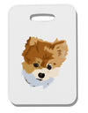 Custom Pet Art Thick Plastic Luggage Tag by TooLoud