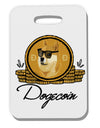 Doge Coins Thick Plastic Luggage Tag Tooloud
