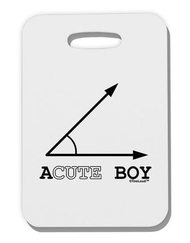 Acute Boy Thick Plastic Luggage Tag