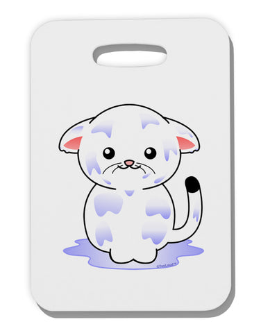 TooLoud Wet Pussycat Thick Plastic Luggage Tag