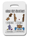 Corona Virus Precautions  Thick Plastic Luggage Tag Tooloud