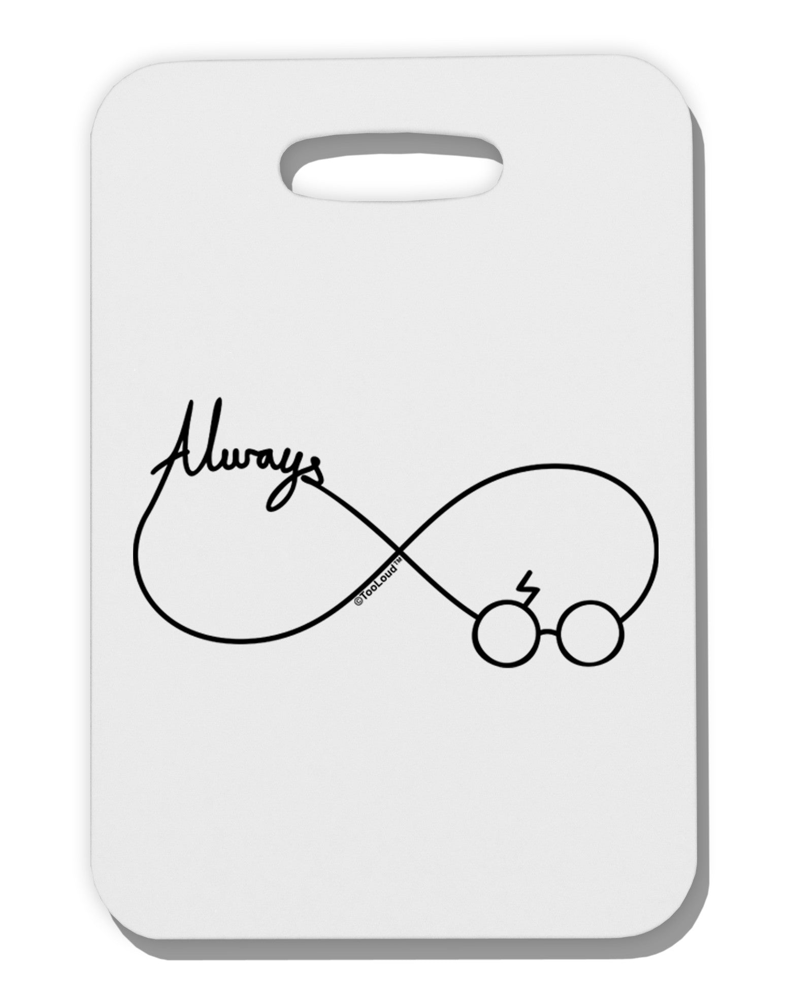 Always Infinity Symbol Thick Plastic Luggage Tag