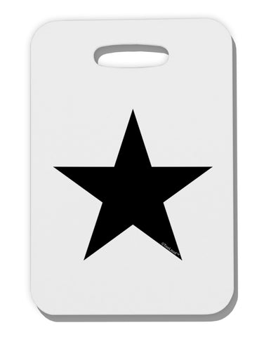 Black Star Thick Plastic Luggage Tag Tooloud