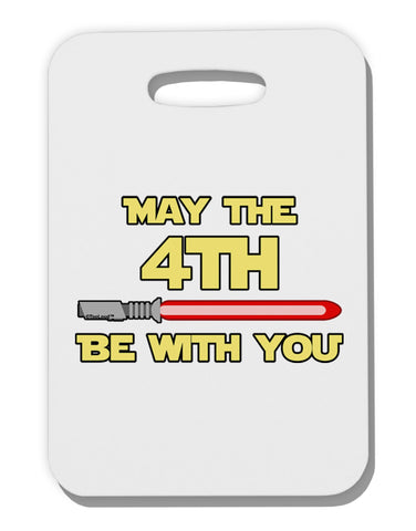 4th Be With You Beam Sword Thick Plastic Luggage Tag
