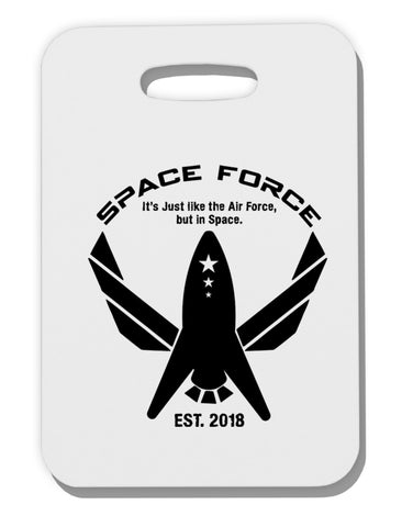 Space Force Funny Anti Trump Thick Plastic Luggage Tag by TooLoud