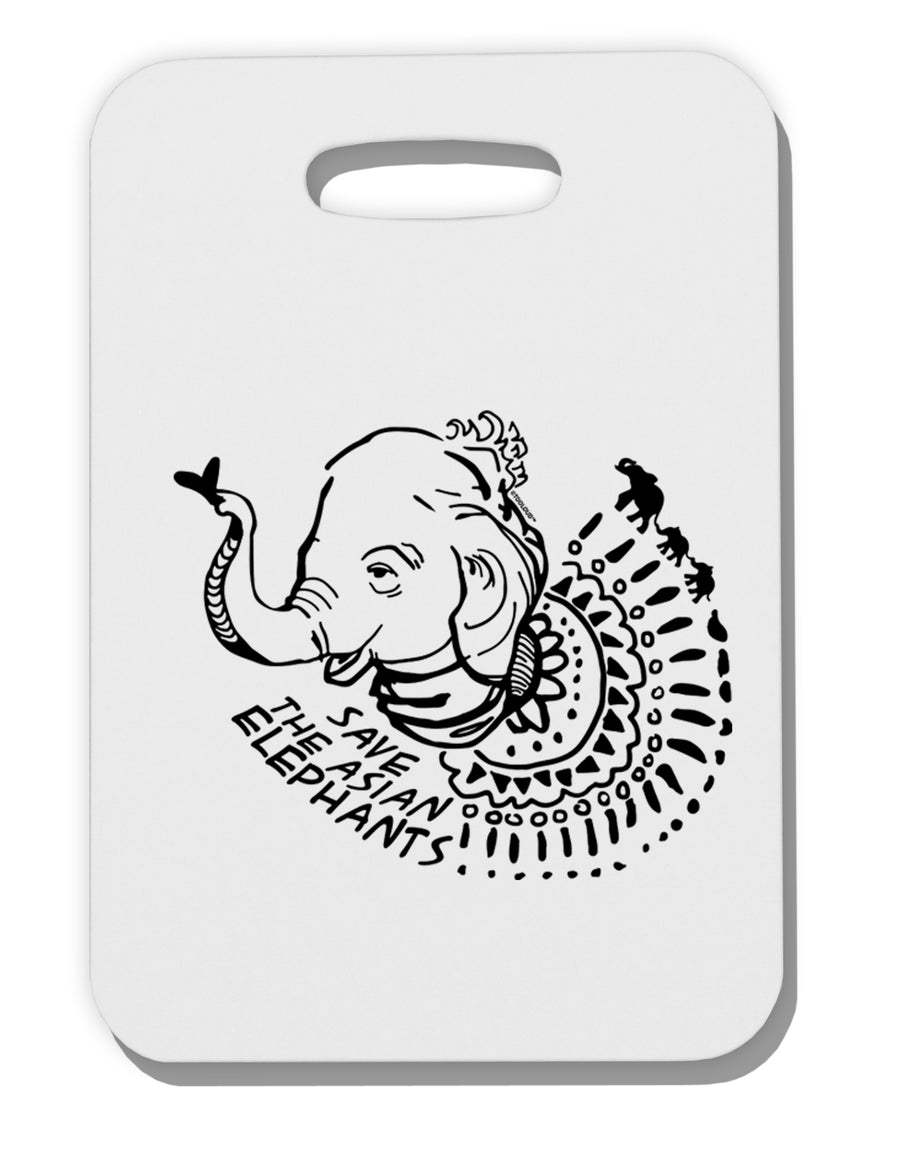 Save the Asian Elephants Thick Plastic Luggage Tag Tooloud
