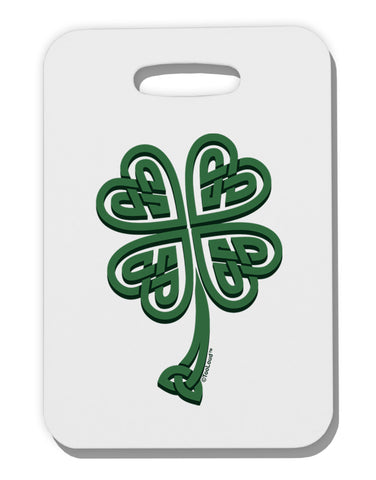 3D Style Celtic Knot 4 Leaf Clover Thick Plastic Luggage Tag
