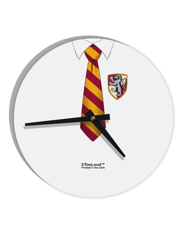 "TooLoud Wizard Uniform Red and Yellow 8"" Round Wall Clock  All Over Print"