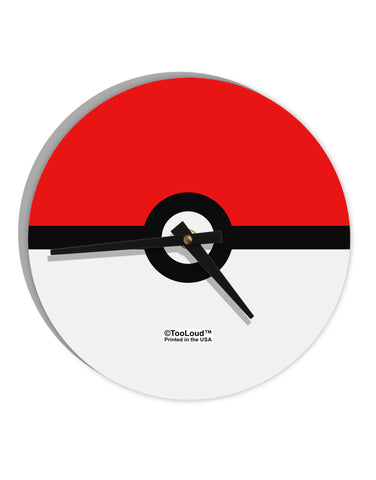 "Sporty Red and White Circle 8"" Round Wall Clock All Over Print"