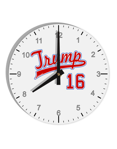 "TooLoud Trump Jersey 16 8"" Round Wall Clock with Numbers"