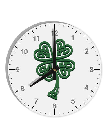 "3D Style Celtic Knot 4 Leaf Clover 8"" Round Wall Clock with Numbers"