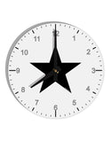"TooLoud Black Star 8"" Round Wall Clock with Numbers"