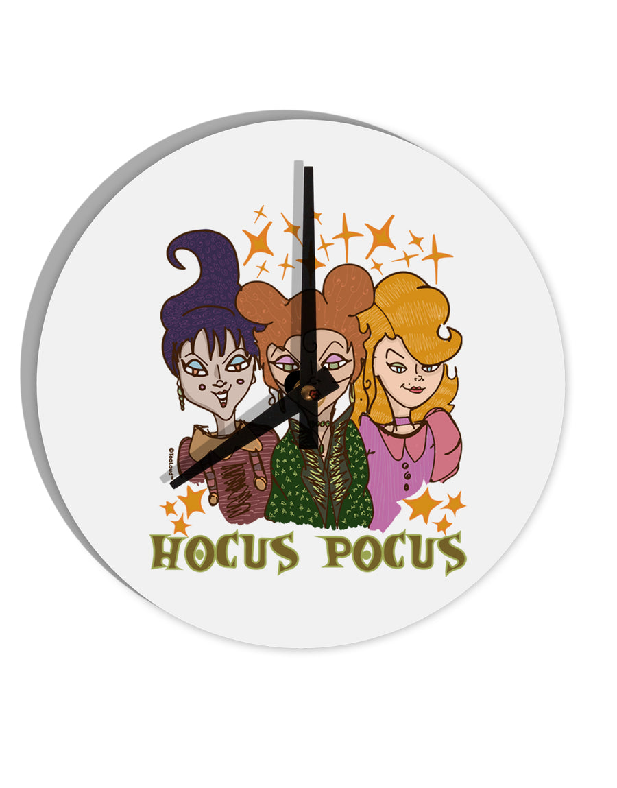 TooLoud Hocus Pocus Witches 8 Inch Round Wall Clock