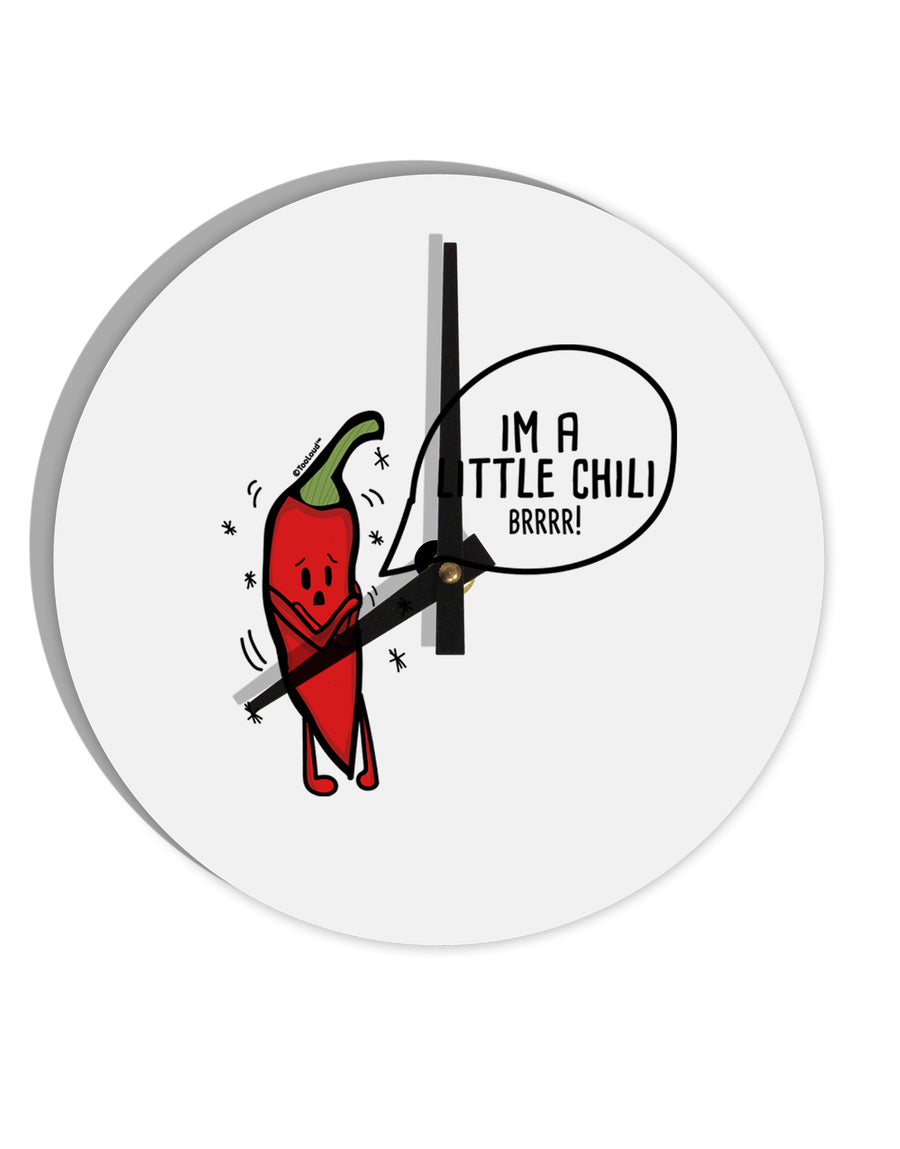 TooLoud I'm a Little Chilli 8 Inch Round Wall Clock