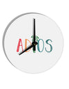 TooLoud Adios 8 Inch Round Wall Clock