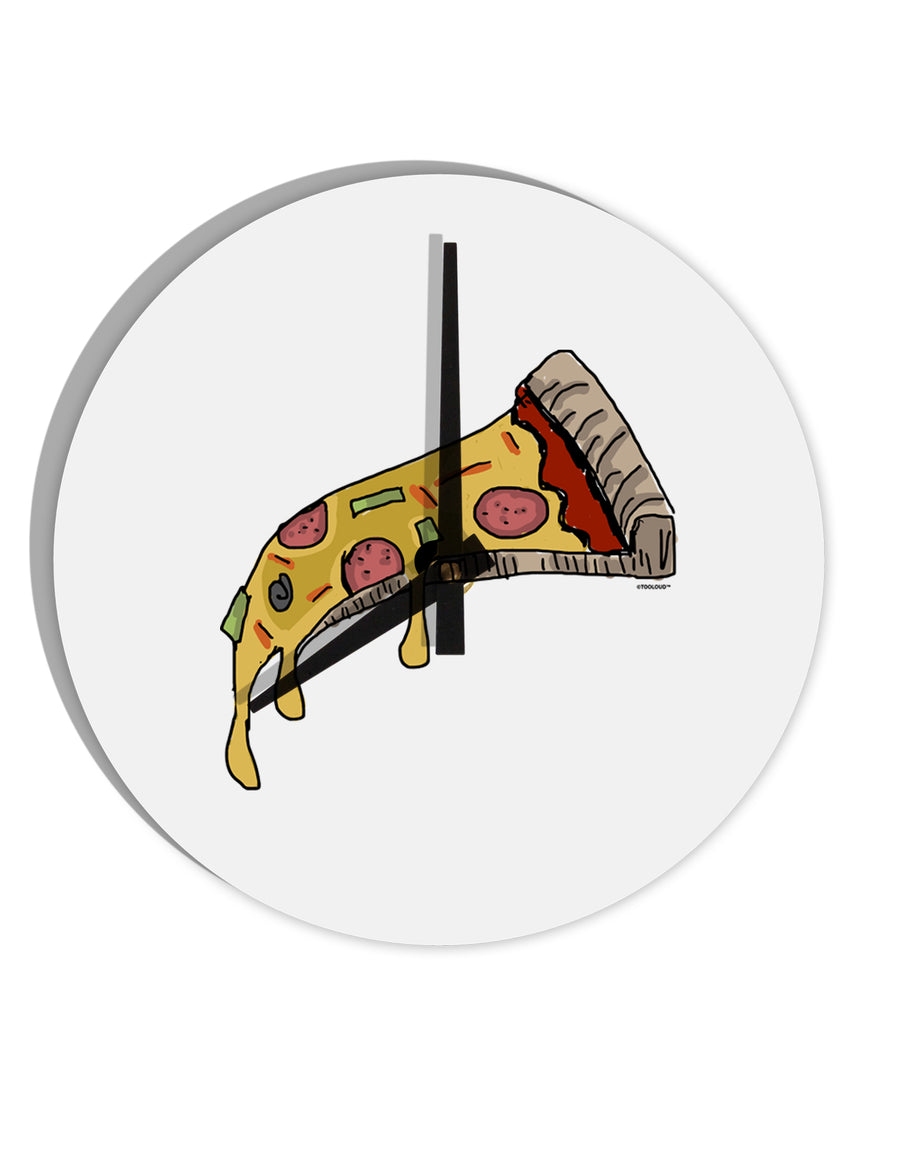 TooLoud Pizza Slice 8 Inch Round Wall Clock