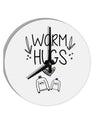 TooLoud Warm Hugs 8 Inch Round Wall Clock