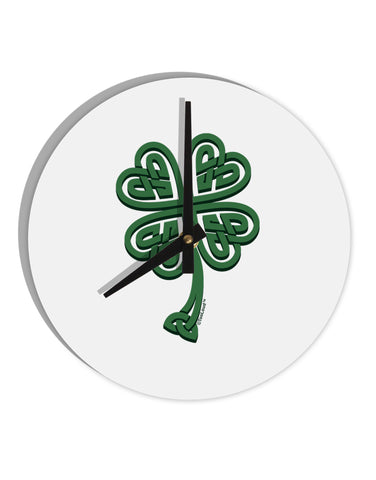 "3D Style Celtic Knot 4 Leaf Clover 8"" Round Wall Clock"