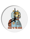 TooLoud Doge to the Moon 8 Inch Round Wall Clock