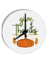TooLoud Give Thanks 8 Inch Round Wall Clock