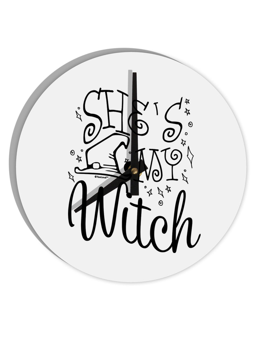 TooLoud She's My Witch 8 Inch Round Wall Clock
