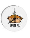 TooLoud To My Pie 8 Inch Round Wall Clock