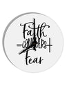 TooLoud Faith Conquers Fear 8 Inch Round Wall Clock