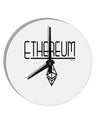 TooLoud Ethereum with logo 8 Inch Round Wall Clock