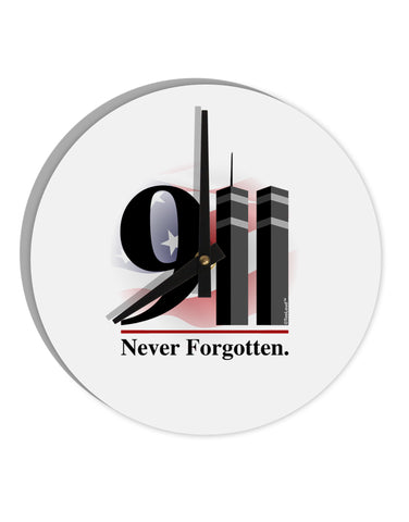 "911 Never Forgotten 8"" Round Wall Clock"