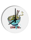 TooLoud Matching Lovin You Blue Pho Bowl 8 Inch Round Wall Clock