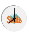 TooLoud Smile 8 Inch Round Wall Clock