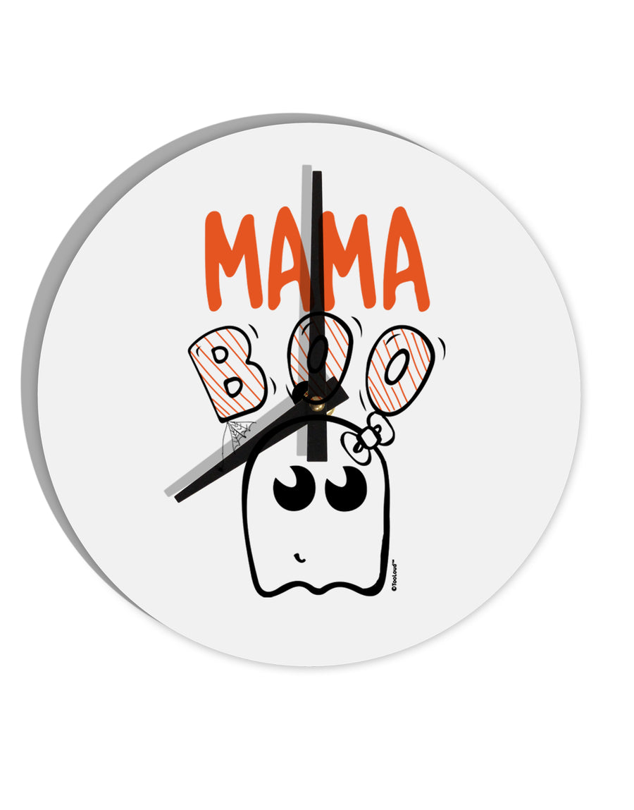 TooLoud Mama Boo Ghostie 8 Inch Round Wall Clock
