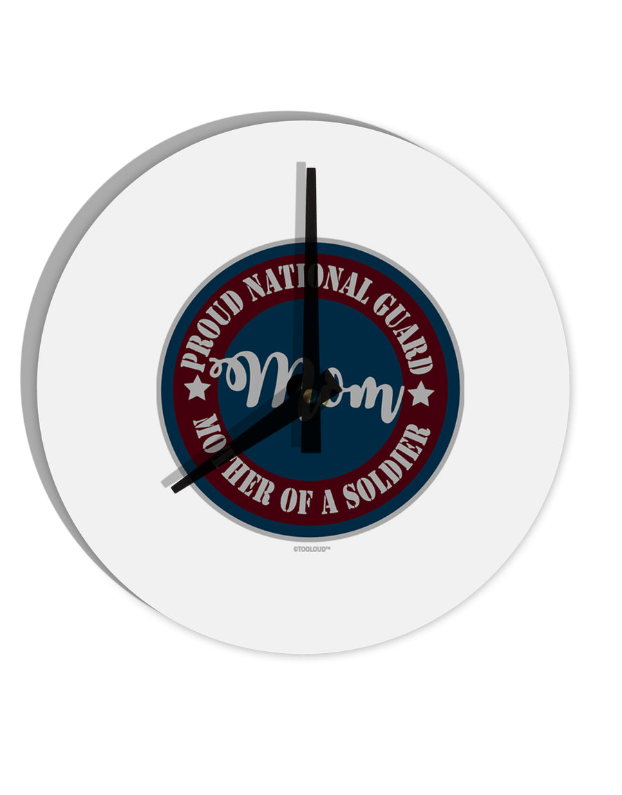 TooLoud Proud National Guard Mom 8 Inch Round Wall Clock