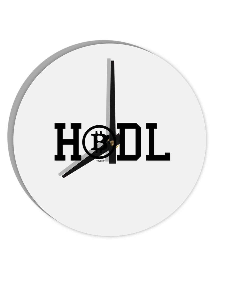 TooLoud HODL Bitcoin 8 Inch Round Wall Clock