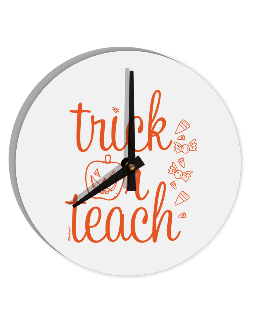 TooLoud Trick or Teach 8 Inch Round Wall Clock