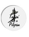 TooLoud Talkin Like a Pilgrim 8 Inch Round Wall Clock