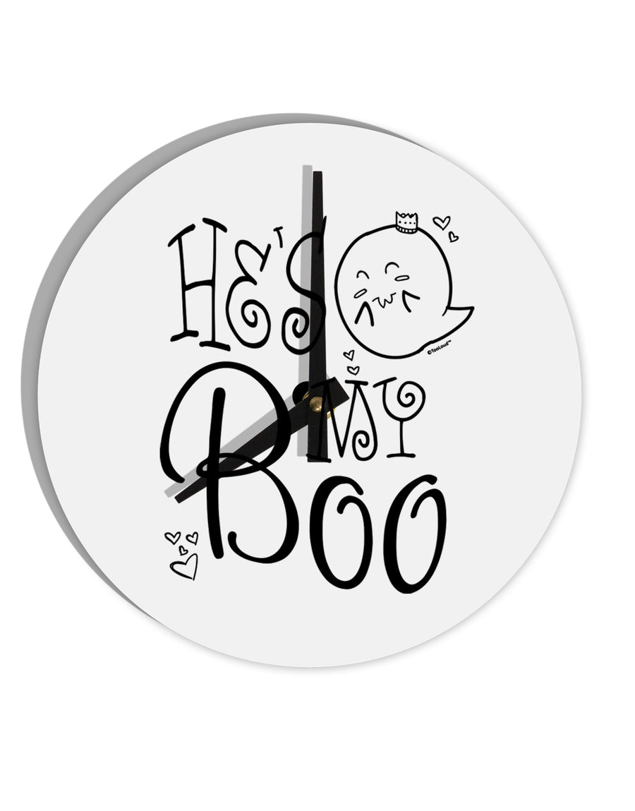 TooLoud He's My Boo 8 Inch Round Wall Clock