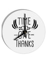 TooLoud Time to Give Thanks 8 Inch Round Wall Clock